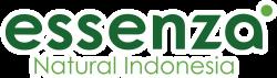 logo essenza natural indonesia outline putih block